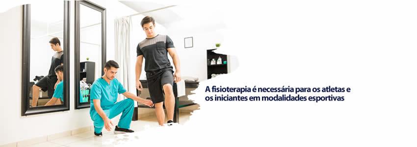 A fisioterapia é necessária para os atletas e os iniciantes em modalidades esportivas