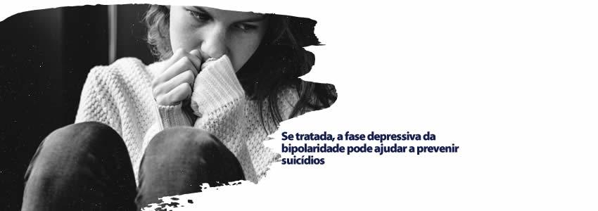 Se tratada, a fase depressiva da bipolaridade pode ajudar a prevenir suicídios