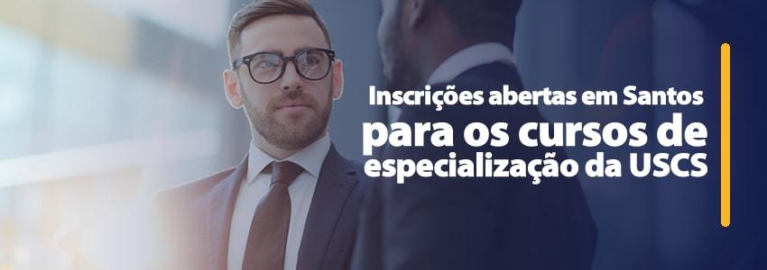 Inscrições abertas em Santos para os cursos de especialização da USCS